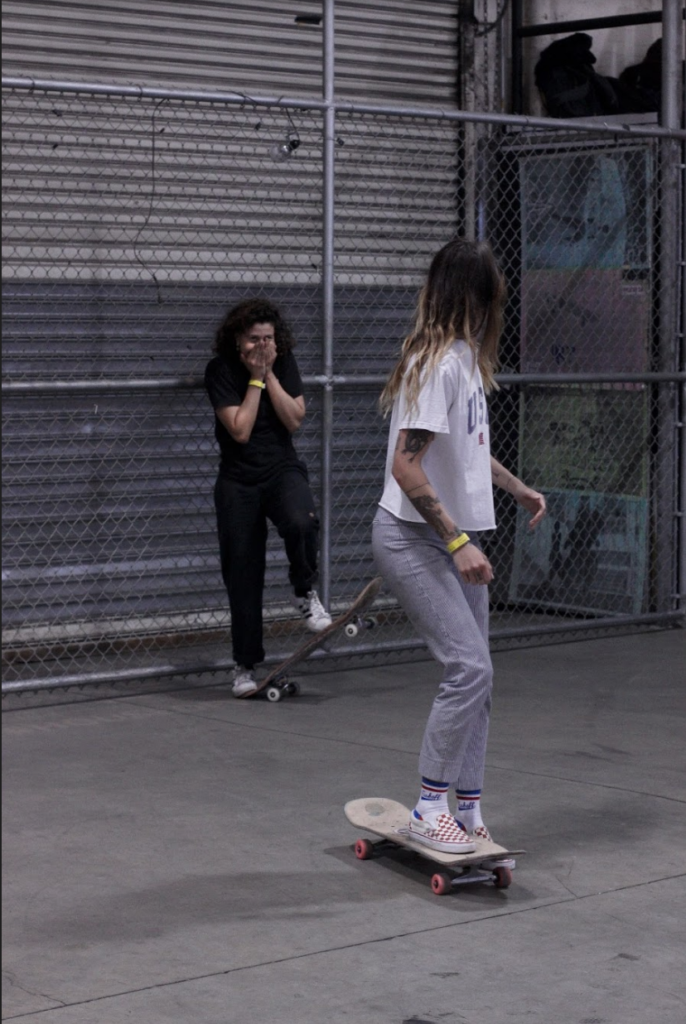 Girl skaters at House of Vans
