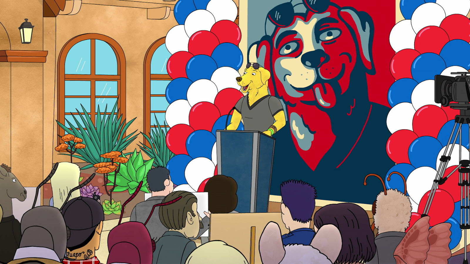 Is Mr. Peanutbutter Doing His Best Donald Trump Impression?